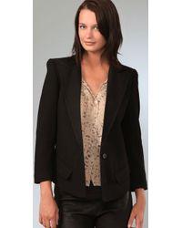 Smythe Black Sharp Shoulder Tuxedo Jacket