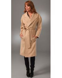 Smythe | Natural Wrap Coat | Lyst