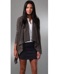 Splendid | Brown Vintage Fleece Cardigan | Lyst