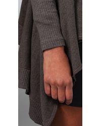 Splendid - Brown Vintage Fleece Cardigan - Lyst