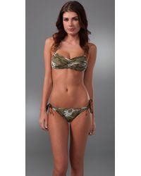 Splendid - Green Camo Bikini Bottoms - Lyst