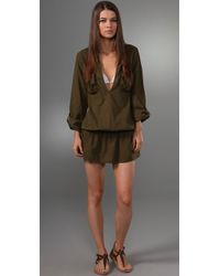 Splendid - Green Signature Cover Up - Lyst