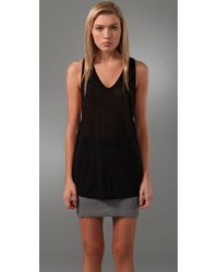 T By Alexander Wang | Black Women's Poly Crepe Off The Shoulder Top With Self Straps | Lyst