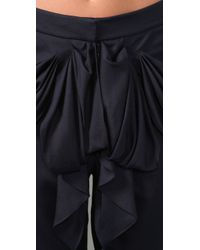 Tibi | Blue Printed Silk Playsuit | Lyst