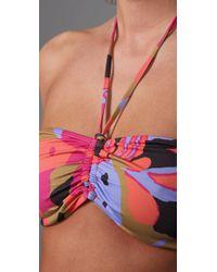 Tibi - Pink Pressed Flowers Bikini Top - Lyst