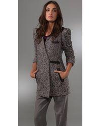 Tibi | Blue Heloise Tweed Jacket | Lyst