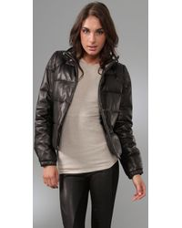 Torn By Ronny Kobo - Black Ruthie Bubble Leather Jacket - Lyst
