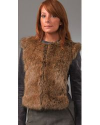 Twelfth Street Cynthia Vincent Gray Fur Front Jacket