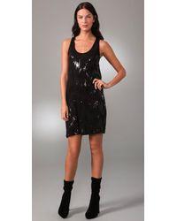 Velvet By Graham & Spencer | Black Kenna Ikat Sequin Dress | Lyst