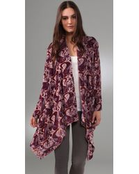 Winter Kate | Purple Jasmine Velvet Cardigan | Lyst