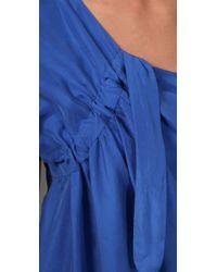 Zimmermann - Blue Copy Cat One Shoulder Dress - Lyst