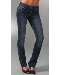 7 For All Mankind | Blue Kimmie Straight-leg Jeans | Lyst