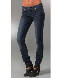 7 For All Mankind - Blue Kimmie Straight-leg Jeans - Lyst