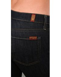 7 For All Mankind - Blue Boot Cut Jeans - Lyst