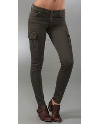 7 For All Mankind | Green The Skinny Cargo Twill | Lyst