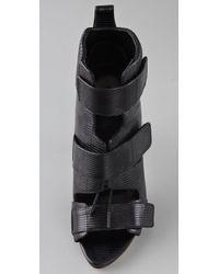 Alexander Wang - Black Noemi Combat Booties - Lyst