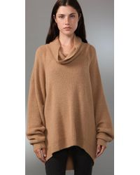 Alexander Wang Natural Cowl-neck Alpaca Sweater