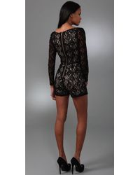 Alice By Temperley - Black Lace Playsuit - Lyst
