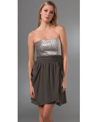 Alice + Olivia Gray Maggie Sequined Georgette Dress
