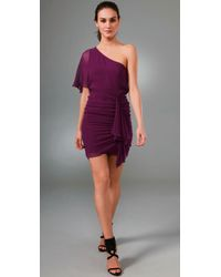 Alice + Olivia | Purple Marcia One Shoulder Dress | Lyst