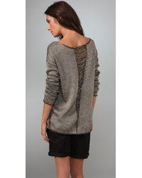 Elizabeth and James - Gray Belinda Pullover Sweater - Lyst