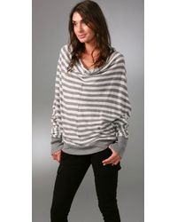 Enza Costa - Gray Cotton Cashmere Reversible Cardigan - Lyst