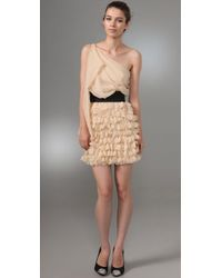 Foley + Corinna | Metallic Asymmetrical Party Dress | Lyst
