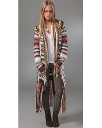 Free People | Multicolor Technicolor Dreamcoat Cardigan | Lyst