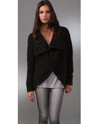 Graham & Spencer | Black Cashmere Cardigan Sweater | Lyst