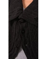 Graham & Spencer - Black Cashmere Cardigan Sweater - Lyst