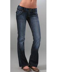 Hudson Jeans Blue Signature Petite Flap Pocket Bootcut