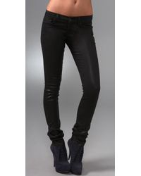 J Brand | Black 12 Wax Pencil Leg Jeans | Lyst