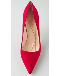 kate spade new york Red Licorice Suede Pumps