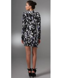 L.A.M.B. - Black Printed Tunic Dress - Lyst