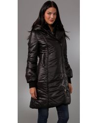 Mackage | Black Magda Down Puffer with Rabbit Fur Collar | Lyst