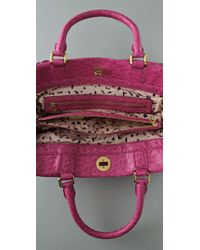 Marc By Marc Jacobs Pink Ozzie Square Lucy Faux Leather Tote