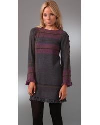 Nanette Lepore - Gray Tea N Tartan Plaid Sweater Dress - Lyst