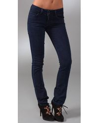 PAIGE | Blue Hidden Hills Straight Leg Jeans | Lyst
