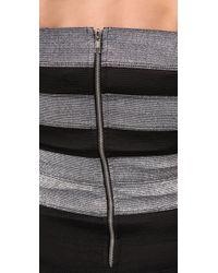 Pleasure Doing Business - Gray Sweetheart Striped Corset Dress - Lyst