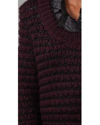 Rag & Bone Purple Greville Striped Knitted Sweater