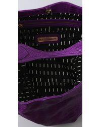 Rebecca Minkoff - Purple Snake Impression Nikki Snake-embossed Leather Hobo - Lyst
