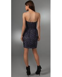 Rebecca Taylor | Blue Quilted Silk Tea Dress | Lyst