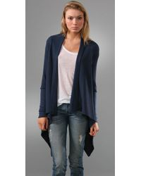 Splendid | Blue Thermal Cardigan | Lyst