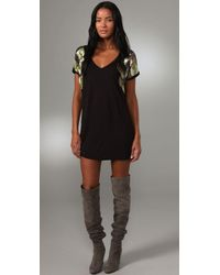 T-bags | Black Embellished Sleeve Dress | Lyst