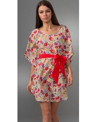 Thread Social - Pink Floral Dress with Sash - Lyst
