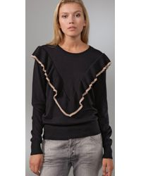 Tigerlily | Black Frill Tip Sweater | Lyst