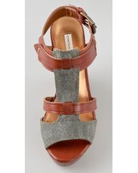 Twelfth Street Cynthia Vincent - Brown Jemma Wedge Sandals - Lyst