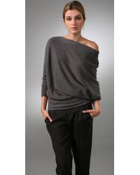 Vince | Gray Wedge Tunic Sweater | Lyst