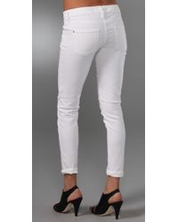 Vince - White Skinny Ankle Jeans - Lyst