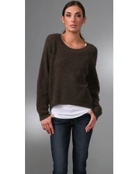 Vince | Brown Thermal Chubby Sweater | Lyst